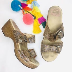 Dansko Sophie Tan Iridescent Sandals